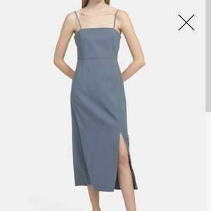 Theory clean strap linen dress
